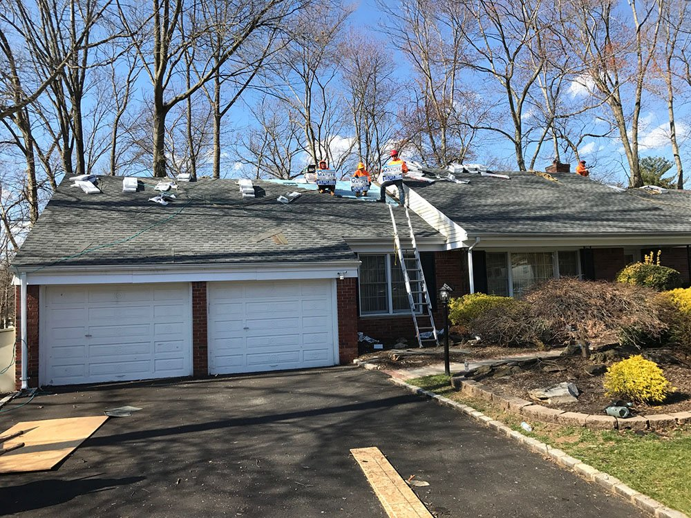 roofing project site